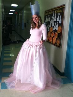 DIY Glinda the Good Witch Costume - maybe for Momma if Lilah goes with Dorothy?
