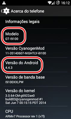 Android KitKat 4.4.3 no Galaxy S2