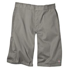 Dickies Men's Big & Tall Loose Fit Twill 13 Multi-Pocket Work Shorts- Silver Gray 46