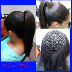 Sew in ponytail - http://www.blackhairinformation.com/community/hairstyle-gallery/weaves-extensions/sew-ponytail/ #weavesandextentions