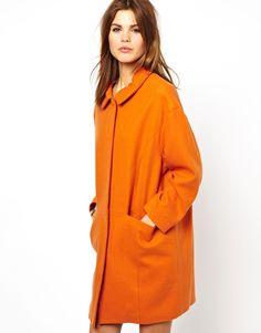 y.a.s henni coat in orange.