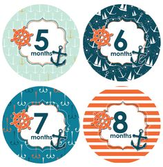 With a unique and stylish design, our little boy nautical themed monthly baby stickers are the perfect way for mommy to share her excitement. Start making darli