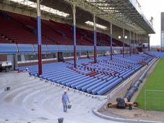 It was a lovely old grandstand. Aston Villa Fc, Villa Park, Best Club, West Midlands, Football, History, Blue, Soccer, Futbol