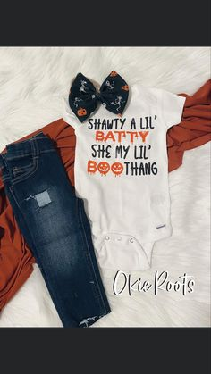 Halloween Prints, Halloween Outfits, Baby Girl Items, Circuit Design, Fall Shirts, Baby Fever, Onesies, Monogram, Skinny Jeans