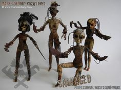 Post Apocalyptic Dolls. Made by Mark Cordory Creations. Enquiries always welcome @ www.markcordory.com