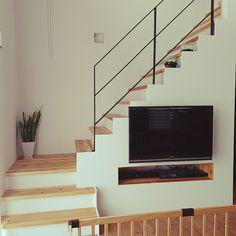 Lounge/観葉植物/階段/吹き抜け/アクアリウム/漆喰壁...などのインテリア実例 - 2016-10-28 04:55:12 | RoomClip (ルームクリップ)