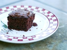 This is my favorite chocolate cake. No fuss, no mess and very moist. Back in the early days when it was paycheck to paycheck, this simple dessert made it into his lunchbox many a day because it was cheap and simple. No eggs, no milk.