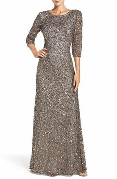Adrianna Papell Sequin Mesh Gown Formal Dresses For Women a45320281