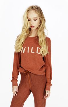 Wildfox Sweater - Wild Baggy Beach Jumper in Coconut Shell