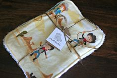 Face cloth  Ride'em Cowboy/girl  Baby wash by peckcloths on Etsy