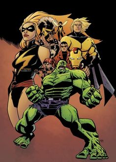 Mighty Avengers by Michael Avon Oeming. I've said it before but it bears repeating: Oeming needs to do more Marvel stuff.