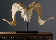 Horned Skull on Stand