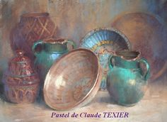 Potteries by Claude Texier - pastel