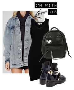 .HIS. #jeanjackets by vvasiliana on Polyvore featuring polyvore fashion style Jean-Paul Gaultier Balenciaga Chiara Ferragni clothing