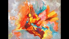How to Balance Colors in an Abstract in Acrylic Gouache on Canvas with ...