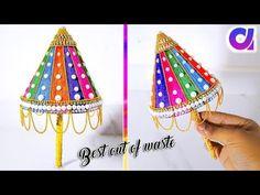 how to make Ganesh Umbrella from waste plastic bottle Umbrella Decorations, Laddu Gopal, Ganesh, Plastic Bottles, Diy Gifts, Art Deco, Diwali, Krishna, Festivals