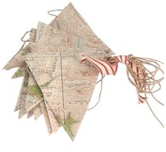 Fashion the bunting from maps covering some of the places you've been together - or would like to go.