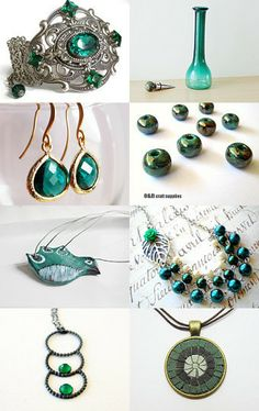 Emerald Valentine ! by Elena on Etsy--Pinned with TreasuryPin.com
