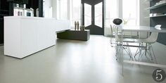 Poured resin flooring from Floored Genius