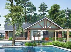 Artemida - murowana – beton komórkowy - zdjęcie 3 Home Fashion, Gazebo, House Plans, Outdoor Structures, Cabin, House Styles, Home Decor, Kiosk, Decoration Home