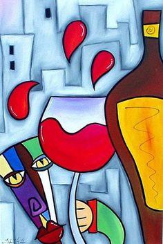 Abstract Wine Art  -  Tom Fredo