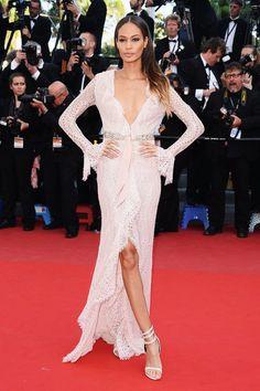 Pale pink Emilio Pucci lace gown