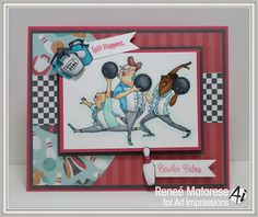 Art Impressions Rubber Stamps: Ai @ Michael's: Clear Stamps Sets: Spare Me SCO680 ...handmade Girlfriends bowling card.