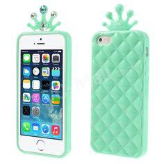 #iPhone5s 5 Diamond Pineapple TPU Skin Case Cover - Cyan