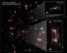 'Double' Galaxy Mystifies Hubble Astronomers | NASA Magnified Images, Galaxy Lights, Hubble Images, Multiple Images, Hubble Space Telescope, Weird Shapes, Light Year, Dark Matter, How To Make Light