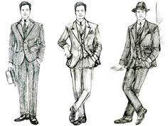 Sketches for Colin Firth's character in #WoodyAllen Magic in the Moonlight. We talk to costume designer Sonia Grande about creating a 1920s cast.