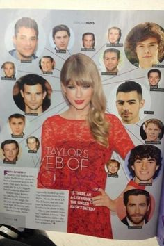 Guys most of them were her best friends...pls get your facts checked...Zac,Justin,Ed are her best friends ...she has never dated them ...