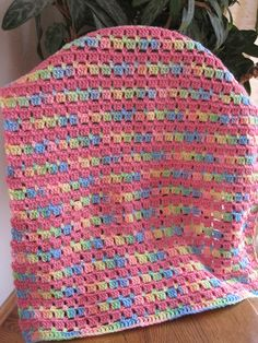 Block-Stitch Baby Blanket By Kathy North - Free Crochet Pattern - (ravelry)
