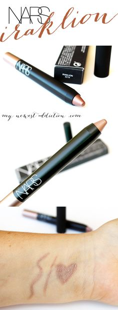 NARS Cosmetics Summer 2014 Adult Swim Color Collection: Lost Coast Eyeshadow Duo and Iraklion Soft Touch Pencil Shadow review and makeup look www.mynewestaddiction.com