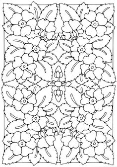 Flower Pattern to Colour by Dandi Palmer #adult #colouring
