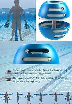 #Aqua #Sphere is a physiotherapy #product that helps users regain mobility by improving their #strength after injury. #Fitness #Yankodesign #Health
