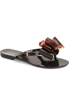 882c18aa536b09 Melissa  Harmonic Bow  Jelly Flip Flop (Women) available at  Nordstrom Bow