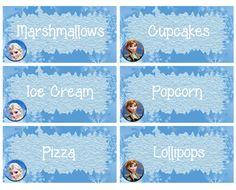 Frozen Food Labels -- FREE PDF Download