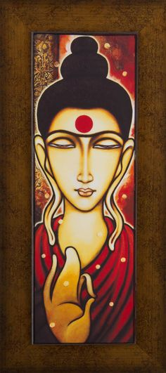 Love For Buddha Sonica Ramawat Modern Art Paintings