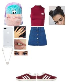 """""""90's vibes I try"""" by randys ❤ liked on Polyvore featuring Miss Selfridge, adidas Originals and Lazy Oaf"""