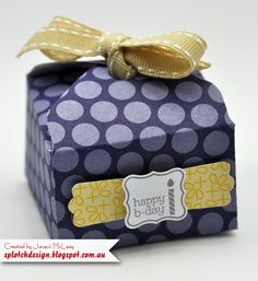 Splotch Design - Jacquii McLeay - Stampin Up - Envelope Punch Board Box