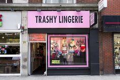 Lingerie shop in Old Compton Street, Soho, London, England, Britain, UK
