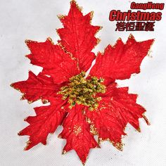Christmas tree Christmas decoration 20cm red sticky powder quality christmas flower 15g-inChristmas Decoration Supplies from Home  Garden on Aliexpress.com $27.61
