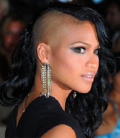 cassie half shaved hairstyle  Thinking of doing this...