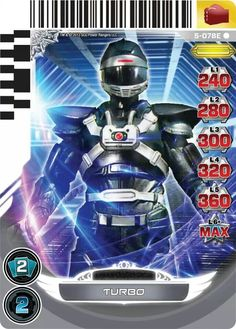 Power Rangers trading card Turbo Phantom Ranger