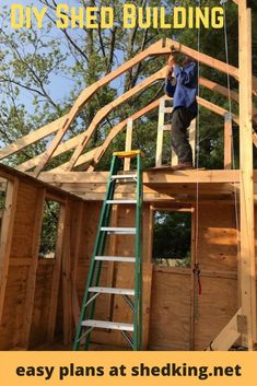 This is Roger.  Roger is 87 years young and a war veteran who is building his own 18 x 16 workshop shed that has a side porch, roll up shed door, and a huge loft for extra storage.  Learn more about the shed plans Roger used to build his awesome shed.