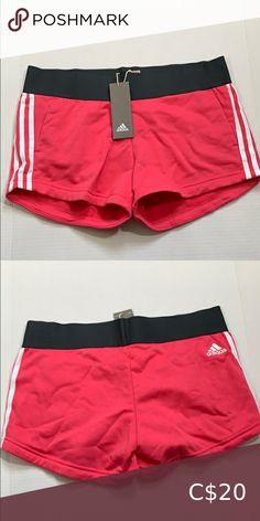 Adidas Shorts Shorts have pockets and elastic waist adidas Shorts Adidas Shorts, Pink Adidas, Plus Fashion, Fashion Tips, Fashion Trends, Adidas Women, Elastic Waist, Casual Shorts, Pockets
