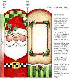 CHRISTMAS, SANTA CANDY BAR WRAPPER, PRINTABLE