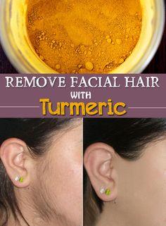 Remove Facial Hair with Turmeric