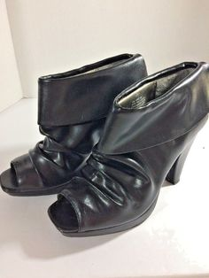 eb778a022ea NWOT Kenneth Cole Reaction Key To Sucess Open Toe Booties Black Boots Size  8M  KennethColeReaction