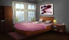 Five Ideas On How To Transform Your Bedroom – Web Alpha Rooms Decor Pink Bedroom For Girls, Pink Bedroom Decor, Pink Bedrooms, Bedroom Paint Colors, Episode Interactive Backgrounds, Episode Backgrounds, Anime Scenery Wallpaper, Anime Backgrounds Wallpapers, Scenery Background